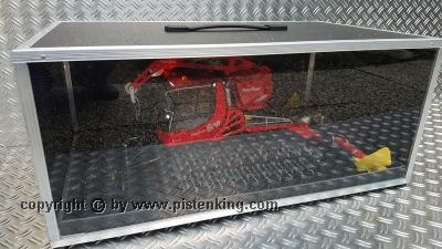 Transport Box Black with Plexiglass and Drawer